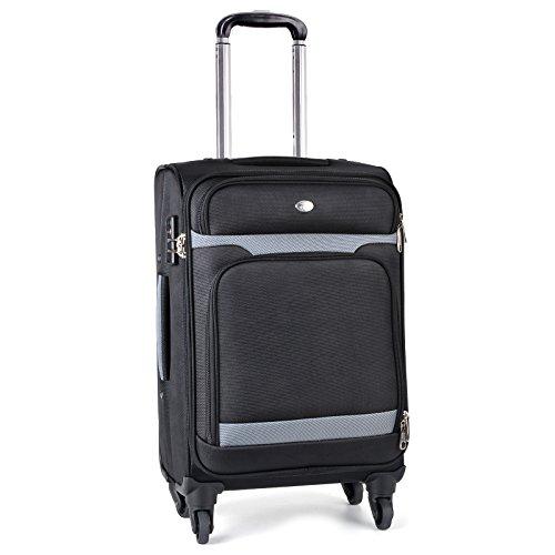 Trolley Bagaglio a Mano, Coofit Valigia Trolley 4 Ruote per Viaggio di Lavoro con TSA Serrature Doganali