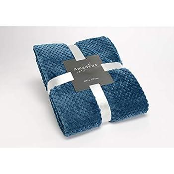 130/x 160/cm Sancarlos MER Plaid Bleu