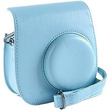 [Fujifilm Instax Mini 8 fundas para cámaras] - YILON Protección Integral Instax Mini 8 caja de la cámara del bolso con PU suave material de cuero (Azul)