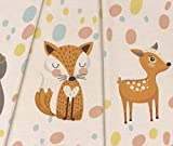 Jersey Little Forest Animals Panel - beige meliert