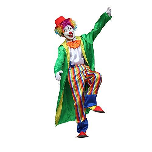 Yaxuan Erwachsene Männer/Frauen Klassisches Horror-Clown-Kostüm, Halloween-Karnevalsfest/Feiertag Halloween-Kostüme,3,XXXXL