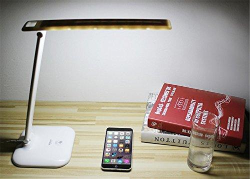 LUCKY CLOVER-AWeihnachten Geschenk High-Tech Falten Dimmable Portable Nachttisch Licht Licht IntelliSense Steuerung LED Schreibtisch Lampe Dekoration (3 Ebenen)