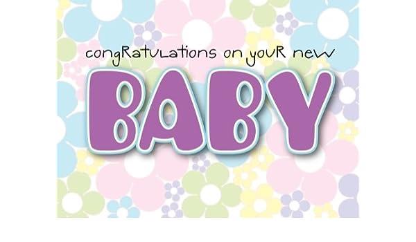New Baby Newborn Girl Greeting Birthday Card