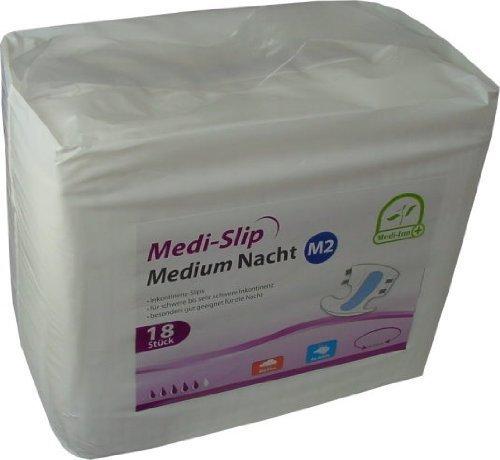 Windeln für Erwachsene Inkontinenzwindeln Inkontinenz Medi - Slip Medi-Inn ver Gr.(72 Stück,Medium 2 (2850 ml))