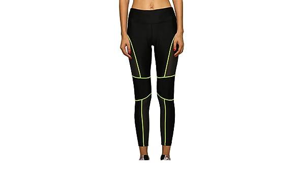 Lorata Femmes Femme Stitching réseau Fil Sport Pantalon de Jogging Yoga  Pantalon de Jogging Collants Pantalons Leggings Small Vert Noir  Amazon.fr   Sports ... ab3ee24549c