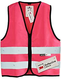 Salzmann 3M Chaleco de seguridad para niños, hecho con cinta reflectante 3M, disponible en 4 colores y 3 tamaños