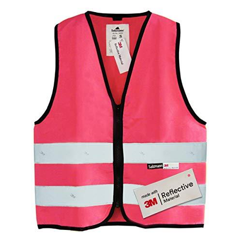 Salzmann 3M Chaleco de seguridad para niños, hecho con cinta reflectante 3M, rosa M