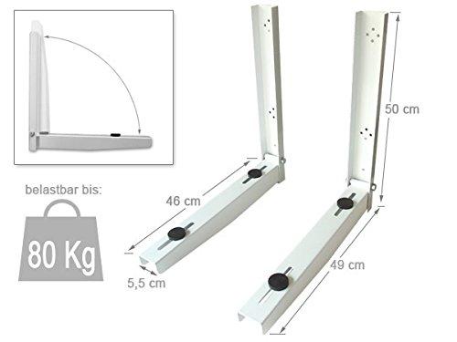 DRALL INSTRUMENTS 1 Paar Universal Halterung für Klimaanlage Klimagerät Air Condition Wandkonsole (2 Stück) Modell: H90