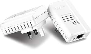 TRENDnet TPL-408E2K 500 MB/s AV2 Powerline Gigabit Ethernet Adapter - Twin Pack