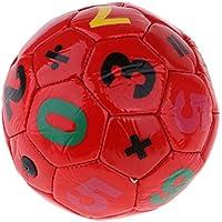 Baoblaze Mini Balón de Fútbol para Niños 3-6 años Unisex, Compacto y Ligero - Rojo, Diámetro 15 cm