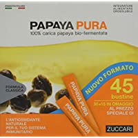 Zuccari Papaya Pura, 45 Bustine da 3 grammi