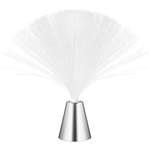 lámpara de fibra óptica que cambia la luz