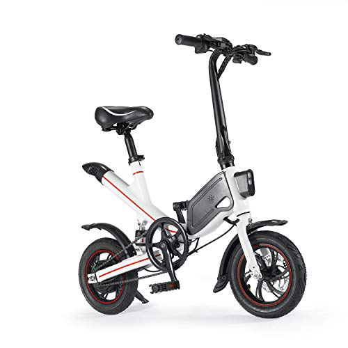 Chicstyleme Bicicletas Electricas Plegables Ligeras Bicicleta Eléctrica Ciudad/Montaña con Batería de Litio Desmontable Aleación de Aluminio, 12