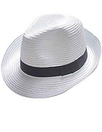 Lorjoy Fedora del Sombrero Flexible Sombrero de Playa del Verano del  Casquillo de la Paja del 762c078f885