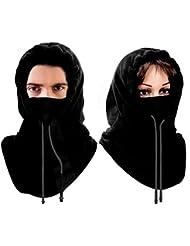 Mture Balaclava Máscara Pasamontañas Protector para Ciclismo Esqui Deporte, Pasamontañas de microfleece unisex (Negro)