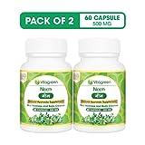 NEEM 500 mg, Pack Of 60 Capsules For Body Cleanse, Detox & Skin