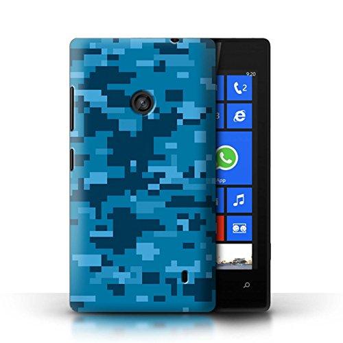 Stuff4® Hülle/Case für Nokia Lumia 520 / Blau Digital Urban Muster/Militär Camouflage Tarnung Kollektion