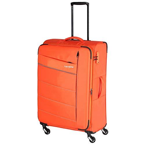 Travelite Extrem leicht: 'KITE' - sportlich-klassische Trolleys, Trolley-Reisetaschen und Bordtaschen Koffer, 75 cm, 95L, Orange