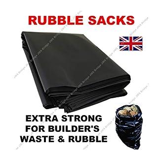 20x Extra fuerte negro escombros bolsas/sacos de 20«x 30» X 100Mu