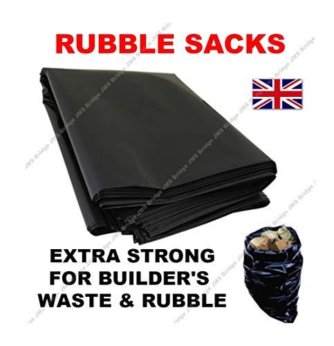 """20x Extra fuerte negro escombros bolsas/sacos de 20""""x 30"""" X 100Mu"""