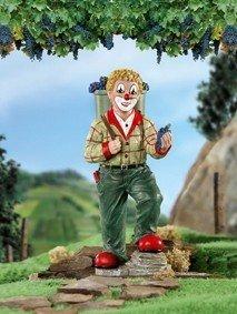Gilde Clown Weinlese - Handbemalte Sammlerfigur 15,5 cm