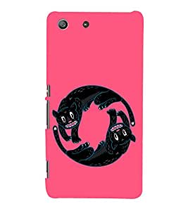 EPICCASE Yin-Yang Cats Mobile Back Case Cover For Sony Xperia M5 (Designer Case)