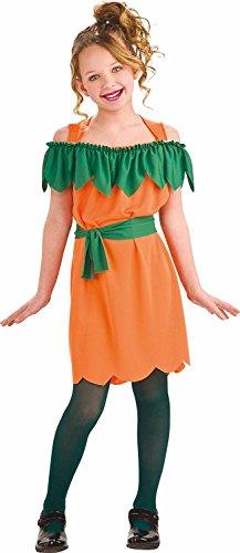 Costume vestito abito travestimento maschera carnevale halloween bambina zucca - pumpkin - taglia 5/7 anni