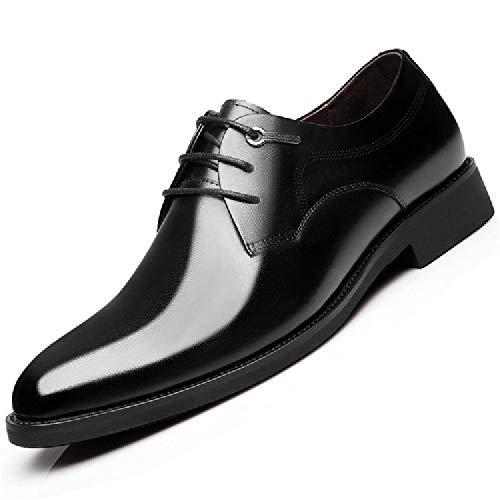 Jsys scarpe eleganti da uomo in pelle scarpe casual in pelle con antiscivolo,black-41eu