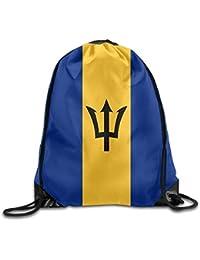 HLKPE Flag of Barbados Cute Gym Drawstring Bags Travel Backpack Tote School Rucksack