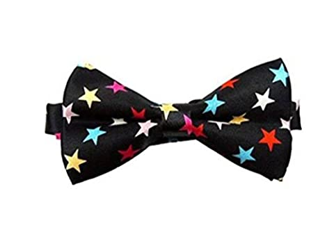 UtopyaUK® Kids Boys Children Satin Solid & Novelty Wedding Party Adjustable PreTied Bow Tie Quality Dickie (Colorful