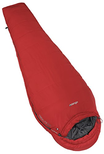 Vango Unisex Treklite 300 Lightweight Sleeping Bag, volcano