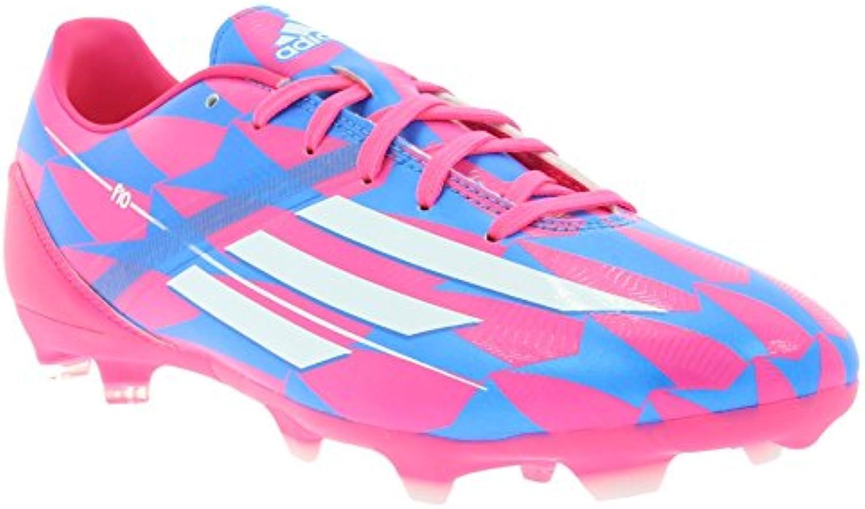 adidas F10 FG Botas de fútbol para hombre rosado M17604, Size:45 1/3