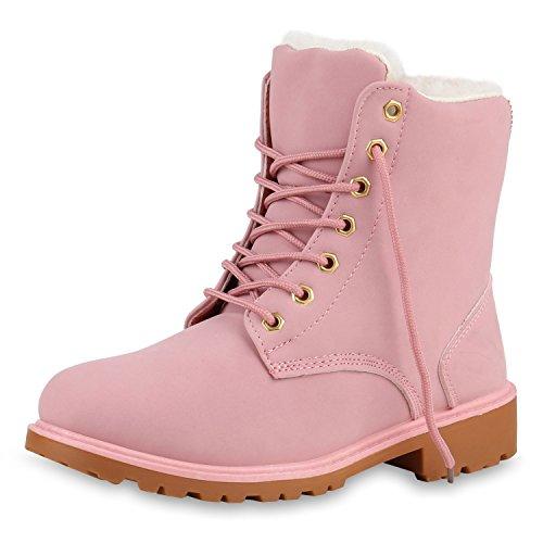 SCARPE VITA Worker Boots Damen Outdoor Stiefeletten Zipper Warm Gefüttert 129299 Rosa Weiss Braun Warm Gefüttert 41