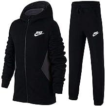 san francisco de3b3 7fc7b Nike B NSW TRK Suit BF Core Tracksuit, Niños, Habanero Red Black