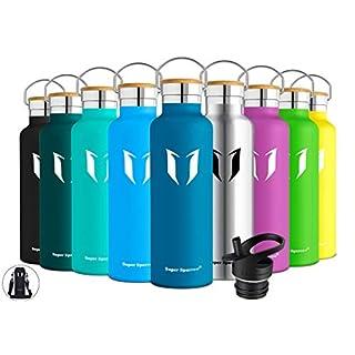 Super Sparrow Trinkflasche Edelstahl Wasserflasche - 750ml - Isolier Flasche mit Perfekte Thermosflasche für Das Laufen, Fitness, Yoga, Im Freien und Camping | Frei von BPA (Dunkelblau)
