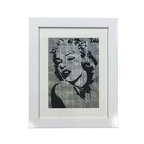 Silhouette Marilyn Monroe Loui Jover Druck Weiß Gerahmt Wandbehang 37cm X 47cm X 2cm (Picture Frames Monroe Marilyn)