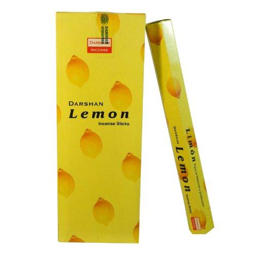 Räucherstäbchen Lemon 120 Sticks Zitrone Duft 6 Schachteln Wohnaccessoire Raumduft Deko