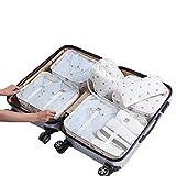 BINGMAX Kleidertaschen für Reise -6 Sets Koffer-Organizer Aufbewahrungstasche wasserdicht Leichtgewichtig