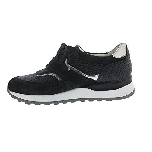 Waldläufer  364018-401-763, Chaussures de ville à lacets pour femme Bleu