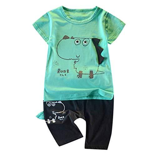 Baby Kleidung Set 2019 New Pwtchenty Babyklamotten Kleiderset Kleinkind Jungen Brief Tops Tops + Shorts Outfits Set 2 Stück (Les Kostüme Des Hommes 2019)