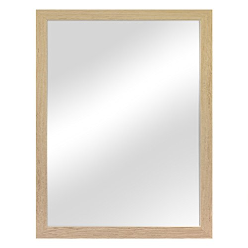 Wandspiegel Garderobenspiegel Frisierspiegel Flurspiegel Barspiegel 56,5x76,5cm - Natur
