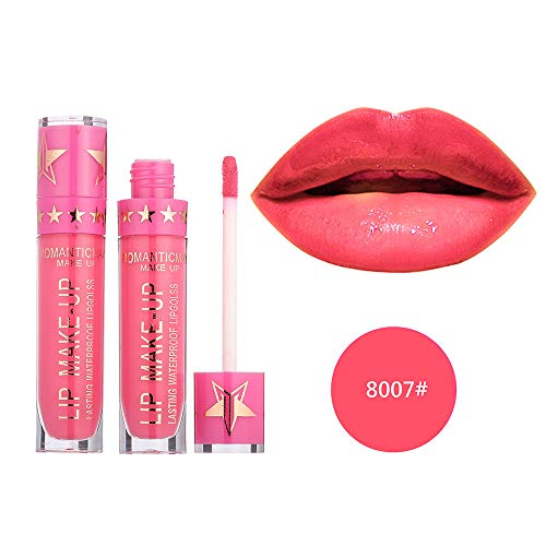 Klassische Matte Lippenstift (Lippenstift Wasserdichte Langlebige Matte flüssige Lippenstift-Kosmetik Zolimx)
