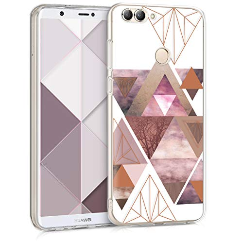 kwmobile Huawei Enjoy 7S / P Smart Hülle - Handyhülle für Huawei Enjoy 7S / P Smart - Handy Case in Rosa Rosegold Weiß
