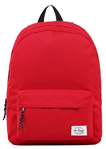 SIMPLAY Mochila Escolar Clásico | 44x30x12,5cm | Colores Variados | Rojo