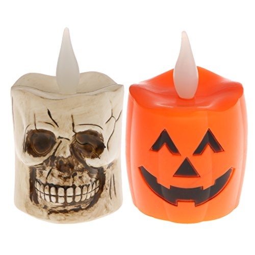 alloween 3D Schädel Kürbis Lampe Tischlampe Nachtlicht Dekor Zubehör (Halloween Dekor Online)