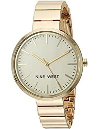 Nine West Women's NW/1986CHGB Gold-Tone Bracelet Watch