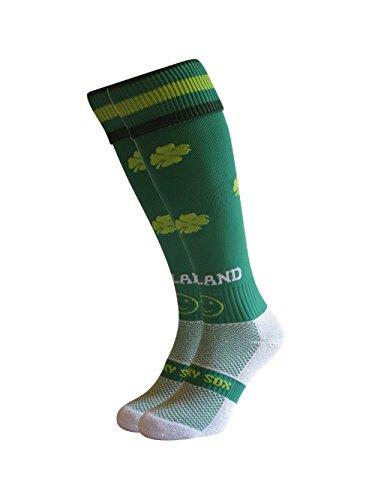WackySox Irland Sport-Socken Adult Shoe Size 7-11