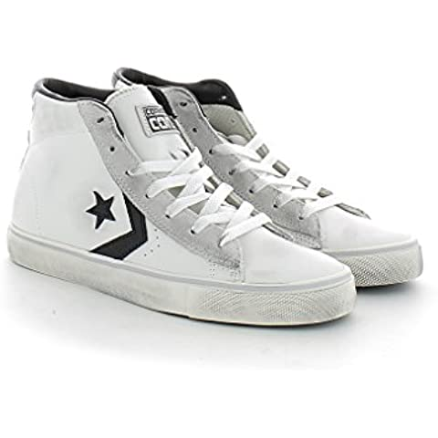 CONVERSE PRO LEATHER VULC MID WHITE BLACK TURTLEDOVE 155096c