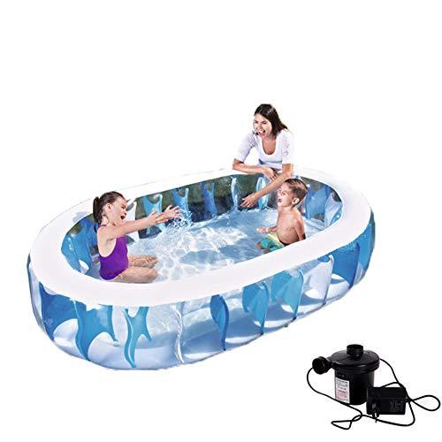 XINTAI-521 Kinder Schwimmen Center Aufblasbar Schwimmbad Mit Luftpumpe Sommer-Familien-Planschbecken-Ozean-Ball-Pool-Gartenrasen Ballbecken 542 Liter