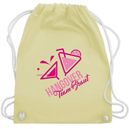 bschied - Team Braut Hangover Cocktails - Unisize - Pastell Gelb - WM110 - Turnbeutel & Gym Bag ()